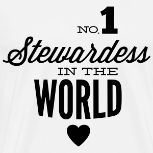 Best stewardess of the world Tops - Men's Premium T-Shirt