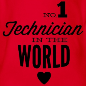 Best technician of the world Shirts - Organic Short-sleeved Baby Bodysuit