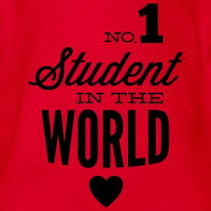 Best student of the world Shirts - Organic Short-sleeved Baby Bodysuit