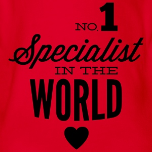 Best specialist of the world Shirts - Organic Short-sleeved Baby Bodysuit