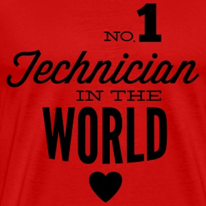 Best technician of the world Long Sleeve Shirts - Men's Premium T-Shirt