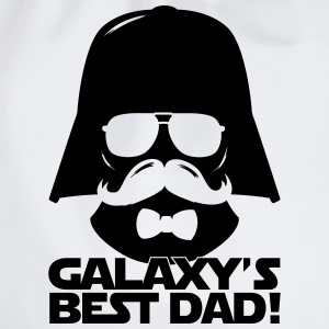 Funny Best Dad of the Galaxy statement T-Shirts - Drawstring Bag