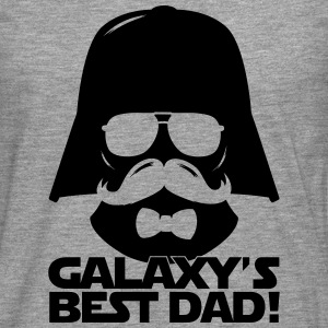 Funny Best Dad of the Galaxy statement T-Shirts - Men's Premium Longsleeve Shirt