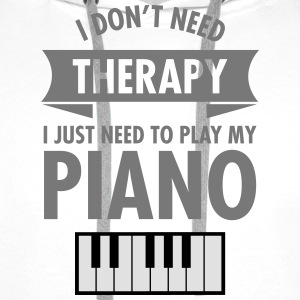 Therapy - Piano T-Shirts - Men's Premium Hoodie