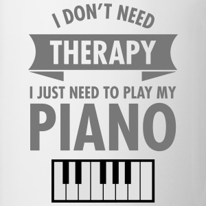 Therapy - Piano Camisetas - Taza