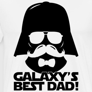 Funny Best Dad of the Galaxy statement Langarmshirts - Männer Premium T-Shirt