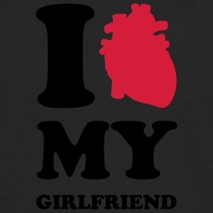 I heart my girlfriend T-shirts - Mannen Premium shirt met lange mouwen
