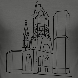 Kaiser Wilhelm Memorial Church Berlin Bags & Backpacks - Men's Slim Fit T-Shirt