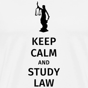 keep calm and study law Kopper & tilbehør - Premium T-skjorte for menn