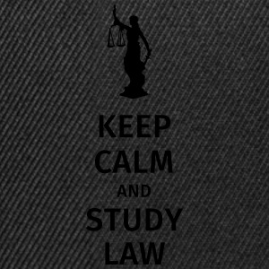 keep calm and study law Koszulki - Czapka typu snapback