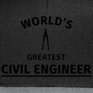 World's greatest civil engineer T-Shirts - Snapback Cap