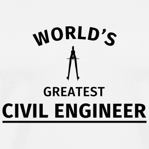 World's greatest civil engineer Mokken & toebehoor - Mannen Premium T-shirt