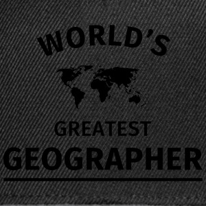 World's Greatest Geographer T-Shirts - Snapback Cap