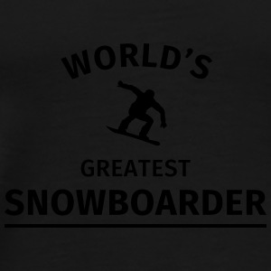 World's Greatest Snowboarder Mugs & Drinkware - Men's Premium T-Shirt
