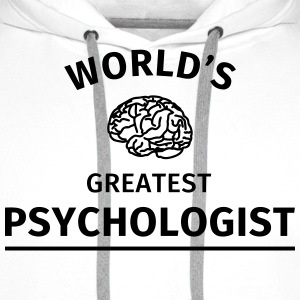 World's Greatest Psychologist Tee shirts - Sweat-shirt à capuche Premium pour hommes