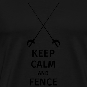 keep calm and fence Mugs & Drinkware - Men's Premium T-Shirt