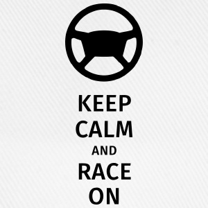keep calm and race on T-Shirts - Baseball Cap