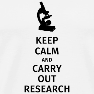 keep calm and carry out research Bouteilles et Tasses - T-shirt Premium Homme