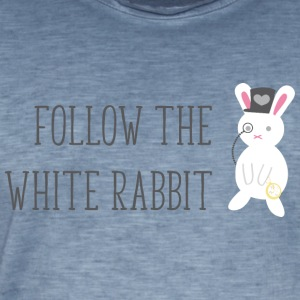 Follow the white rabbit - Männer Vintage T-Shirt