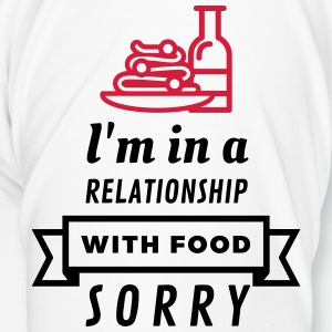 I am in a relationship with food Mugs & Drinkware - Men's Premium T-Shirt