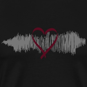 Music Heart - Männer Premium T-Shirt
