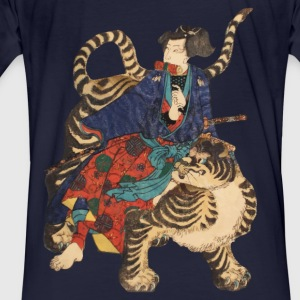 Samurai on Tiger Felpe - T-shirt ecologica da uomo