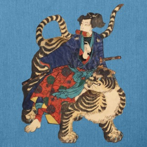 Samurai on Tiger Hoodies & Sweatshirts - Shoulder Bag made from recycled material