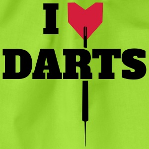 I LOVE DARTS SHIRT T-Shirts - Drawstring Bag