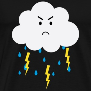 Grumpy cloud with lightnings Other - Men's Premium T-Shirt