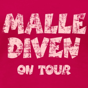 Malle Diven on Tour Vintage/Pink Tank Top - Frauen Premium T-Shirt