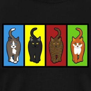 four cats four colors Tops - Men's Premium T-Shirt