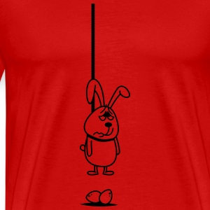 Hanging Bunny Long Sleeve Shirts - Men's Premium T-Shirt