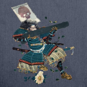Samurai with cannon T-shirts - Schoudertas van gerecycled materiaal
