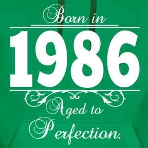 Born in 1986 birthday T-Shirts - Männer Premium Hoodie