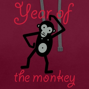 Year of the monkey - Kontrast-Hoodie