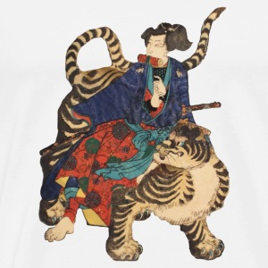 Samurai on Tiger Autres - T-shirt Premium Homme