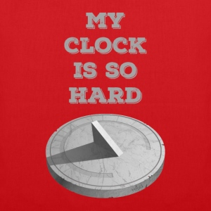 Clock Hard (Red) - Tote Bag