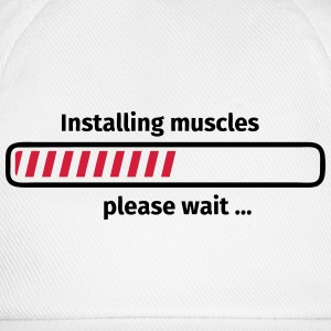 Installing muscles please wait ... T-shirts - Baseballcap