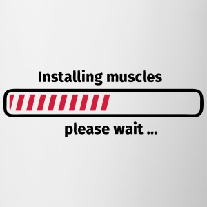 Installing muscles please wait ... T-shirts - Mok