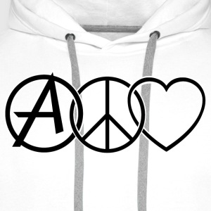 ANARCHY PEACE & LOVE T-skjorter - Premium hettegenser for menn