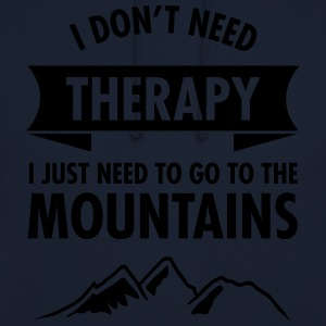 Therapy - Mountains T-Shirts - Unisex Hoodie