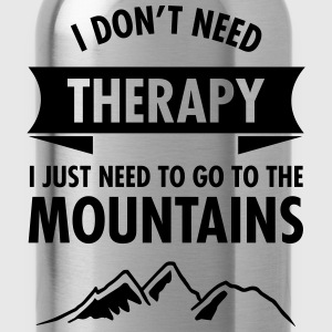 Therapy - Mountains T-Shirts - Trinkflasche