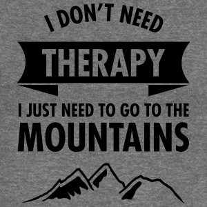Therapy - Mountains T-Shirts - Women's Boat Neck Long Sleeve Top