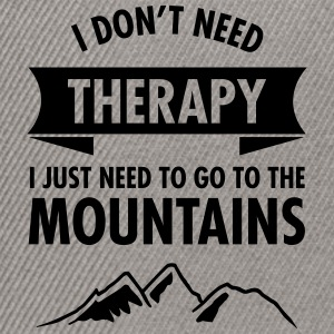 Therapy - Mountains T-Shirts - Snapback Cap