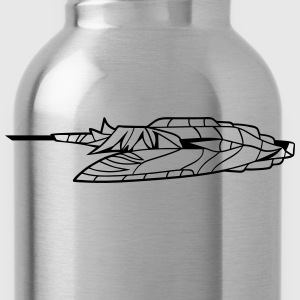 slider ufo cool futuristic technology spaceship sp T-Shirts - Water Bottle
