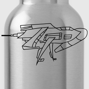 futuristic technology universe spaceship aliens al T-Shirts - Water Bottle