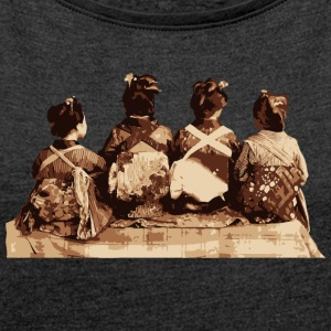 Japanese Dancers - Geisha Bags & Backpacks - Women's T-shirt with rolled up sleeves