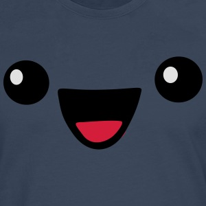 Kawaii Happy face - Männer Premium Langarmshirt