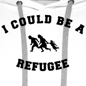 I could be a refugee T-shirts - Premiumluvtröja herr