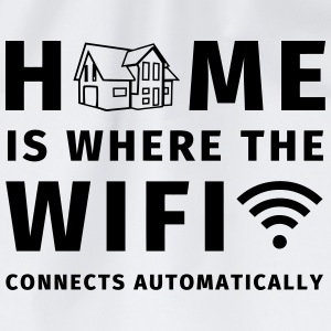 Home is where the WIFI connects automatically Tazze & Accessori - Sacca sportiva